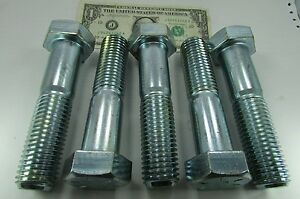 Details about 5 Large Grade 8 Hex Bolts 1-1/8