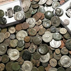 Ancient-Coin-Estate-Lot-Roman-Greek-Byzantine-Bronze-Silver-Gold-BC-Money