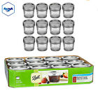 12 Ball Mason Regular Mouth Canning Quilted Jelly Jars 4oz w/Lids & Bands NEW