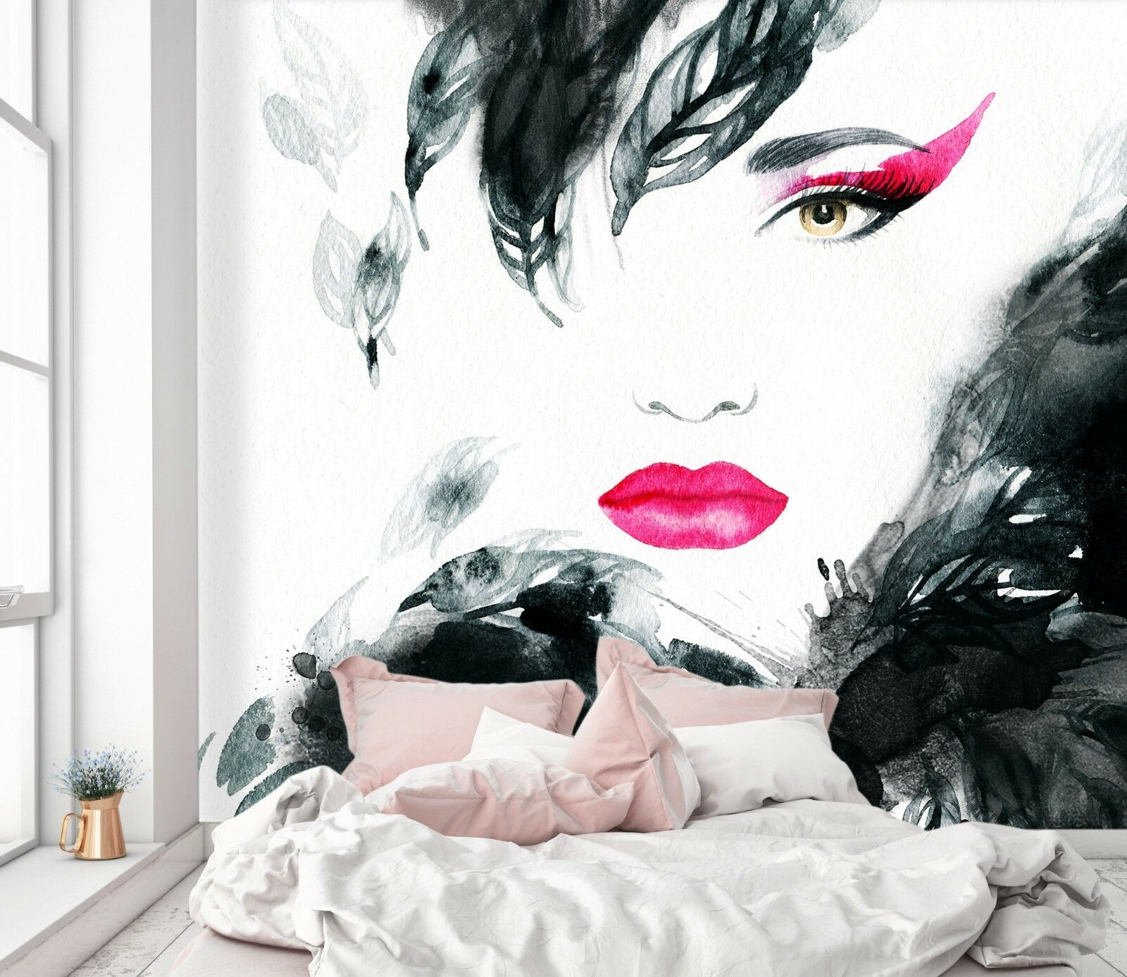 3D Women Ink Painting 44 Wall Paper Wall Print Decal Deco Indoor Wall Mural CA