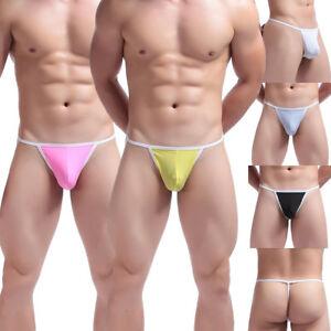 5185272fc76 Men's Sexy See-through Bikini Briefs Mesh Sheer Pouch Panties Thongs ...