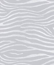 Metallic Zebra Print - Arthouse Tropics Serengeti Silver Wallpaper 670301