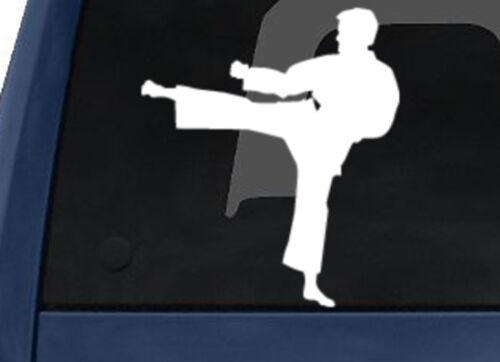 Sport Silhouette Karate Martial Artist High Kick #1 Car Tablet Vinyl Decal