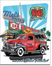 Mel's Hollywood Drive-In Diner USA Metall Deko Schild - Dodge Pick-Up Truck