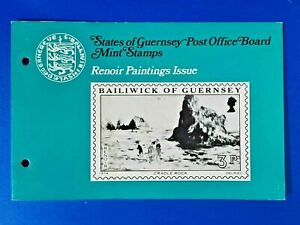 GB Guernsey Set of 4 Mint Stamps Presentation Pack 1974 Renoir Paintings Issue