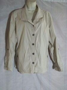 Sz-3-XL-Chicos-khaki-jacket-blazer-womens-stretch-tab-sleeve-casual-career