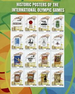Grenade 2017 Neuf Sans Charnière Historique Affiches Jeux Olympiques De Londres 1948 16 V M/s I Timbres