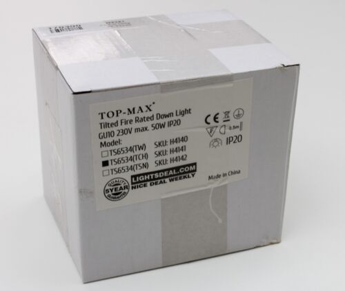 Top-Max TS6534 Fire Rated Recessed Downlight GU10 Polished Chrome Tiltable