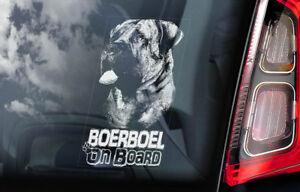 Boerboel-a-Bordo-Coche-Ventana-Pegatina-South-Africano-Mastiff-Perro