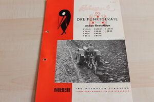 144641 Prospekte Rabewerk Dreipunkt Anbau-beetpflüge Prospekt 04/1959 Kataloge & Prospekte