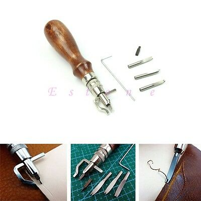 Hot Leathercraft Adjustable Stitching Groover Crease Edge Skiving Leather Tool