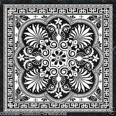 Black White Palm Decorative Art Tile Kitchen Backsplash Ceramic Border Accent Ebay