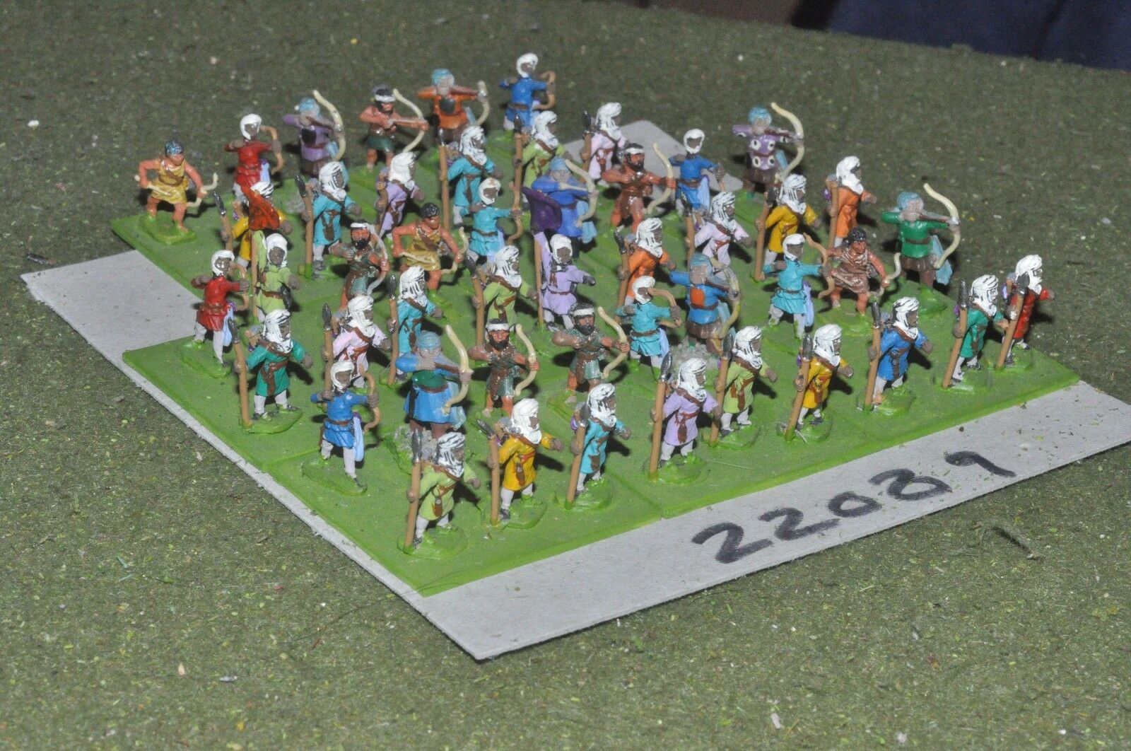 15mm classical   persian - achaemenid spear & bow 48 figs infantry - inf (22089)