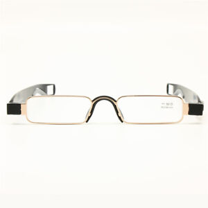 31e4e492682 Image is loading Folding-Reading-Glasses-Leather-Case-Mini-Pocket-Reader-