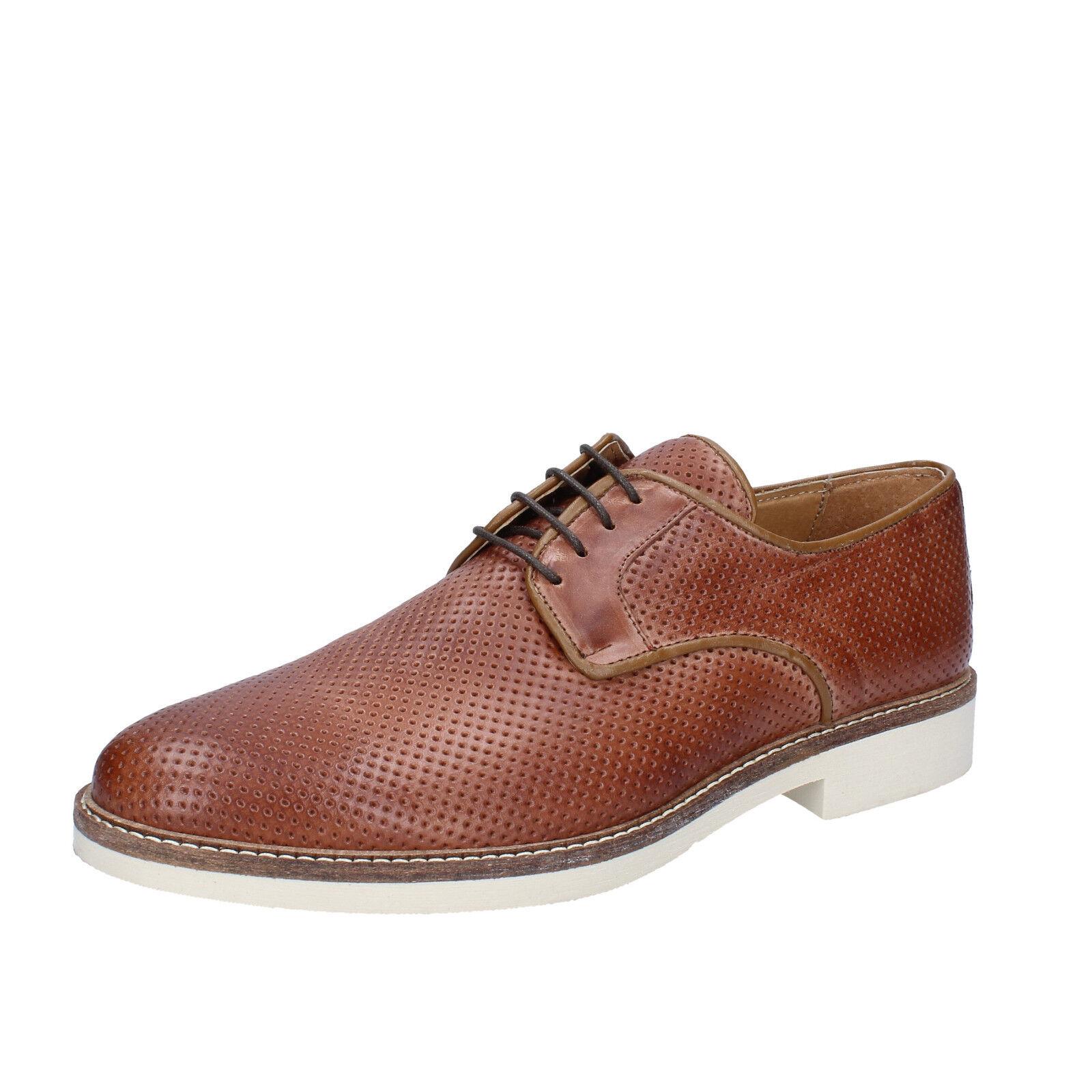 Chaussures Hommes Salvo Ferdi 43 UE élégante marron cuir bz622-b