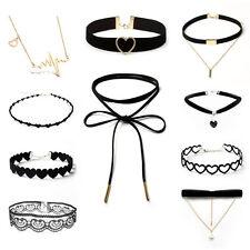 10PCS Velvet Spitze Halsband Kropfband Choker Halskette Modeschmuck Samthalsband