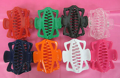 """LOT OF  12,24---5 1//2/"""" SOLID ASSORTED JUMBO HAIR CLIPS HAIR CLAWS--HC851A"""