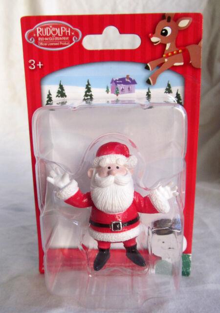 Santa Rudolph Reindeer Red Nosed Christmas Village Figure Figurine Cake Topper