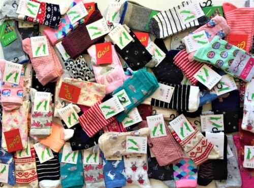 10 Pairs Ladies Women/'s High Quality Cotton Socks Coloured Design Size 4-7 HRKMS