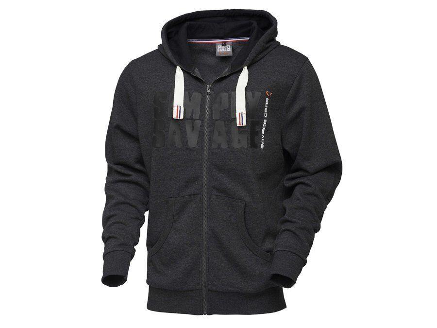 Savage Gear Hoodie Simply hood Savage Raw Zip Adjustable hood Simply Good quality 4fe368