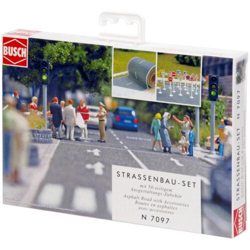 + BUSCH 7097 N Straßenbau-Set NEU /& OVP