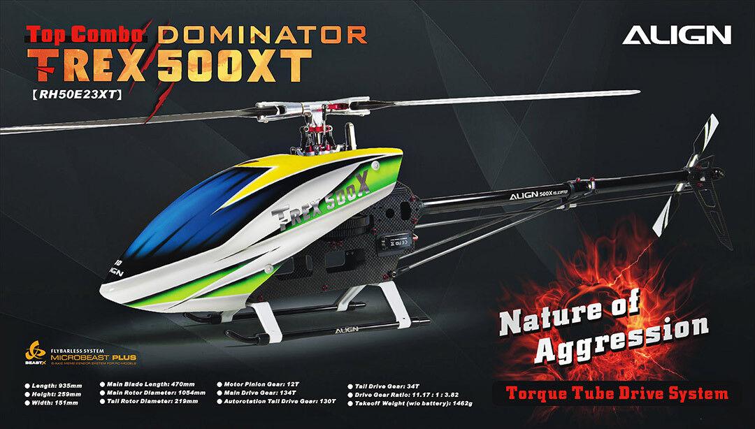Align Trex 500 x tubo de Torque Dominator (versión) 500 tamaño helicóptero eléctrico
