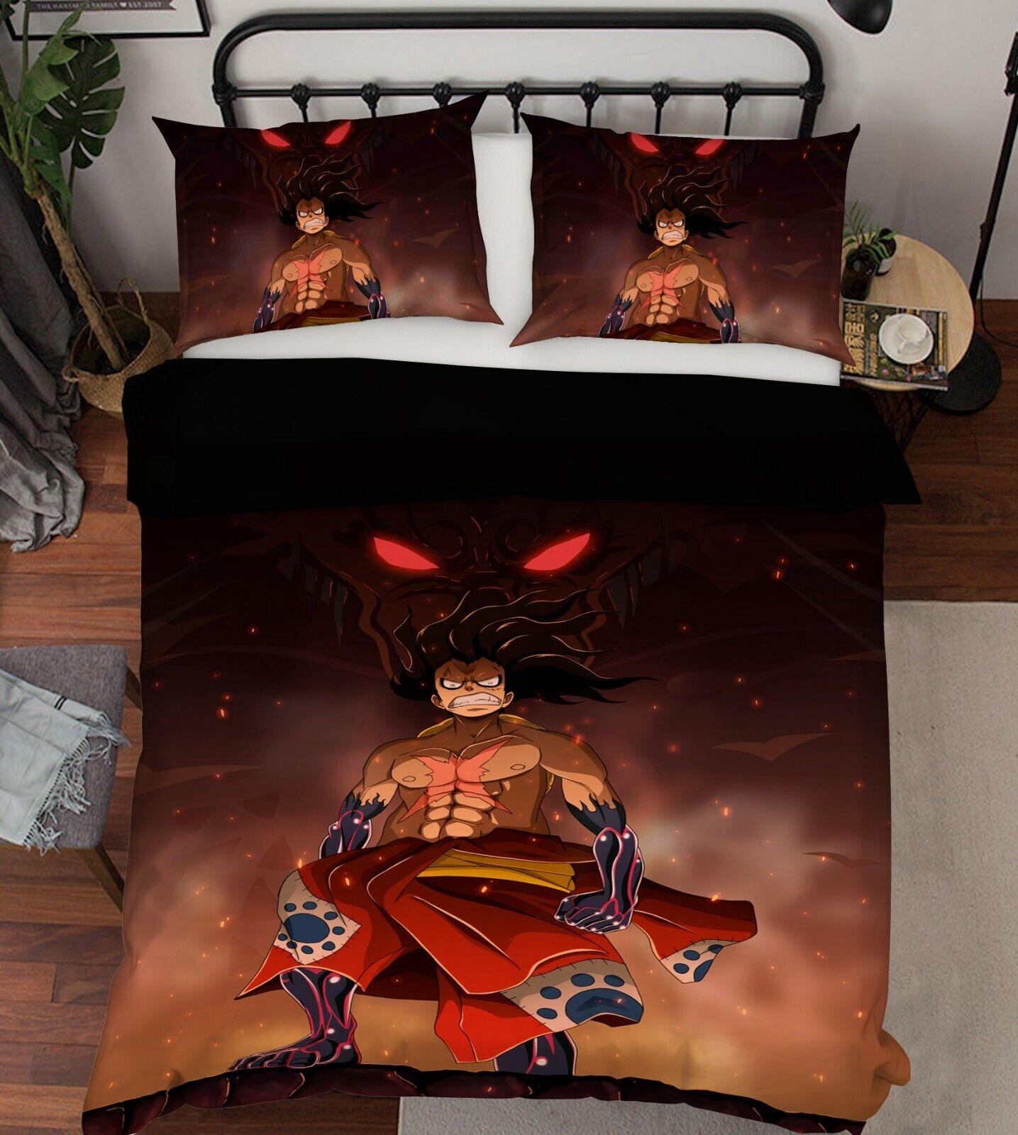 3D ONE PIECE 814 Japan Anime Bed Pillowcases Quilt Duvet Cover Single AU