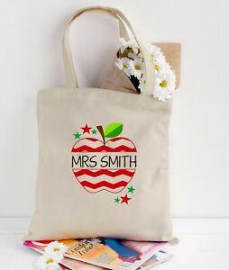 Personalised-teacher-tote-bag-thank-you-gift-bag-school-leaving-gift-apple