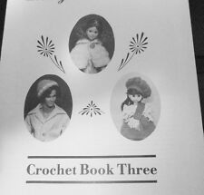 """Doll Clothing Crochet Pattern Fit Barbie  Kin 8"""" Little Girl Doll Crochet Bk.#3"""