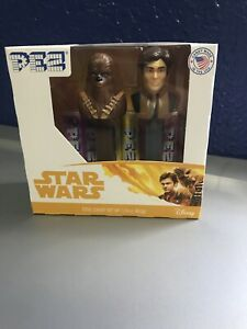 Star Wars Pez Dispensers Han Solo & Chewbacca Box Set New 2018