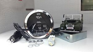 "Austin Mini Land Rover Series 1 2 2a 3 86 88 OEM Smiths 2"" Oil Pressure Gauge"