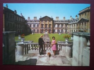 POSTCARD-BEDFORDSHIRE-WOBURN-ABBEY-EAST-FRON-DUKE-DUCHESS-OF-BEDFORD