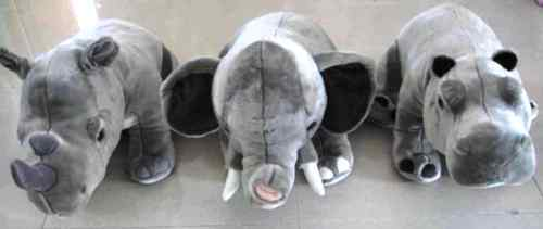 RHINOCEROS + ELEPHANT + HIPPOPOTAMUS 460 70cms PLUSH - REF 460 HIPPOPOTAMUS b4ded4