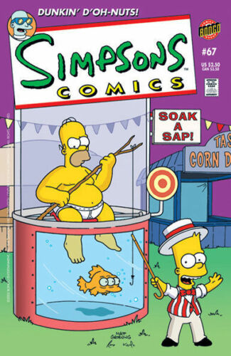 ~~~/> Simpsons Comics #67 ~ Dunk tank HOMER