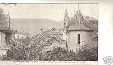 68 - cpa - Guerre de 1914-1918 - THANN - Château Bindschedler bombardé
