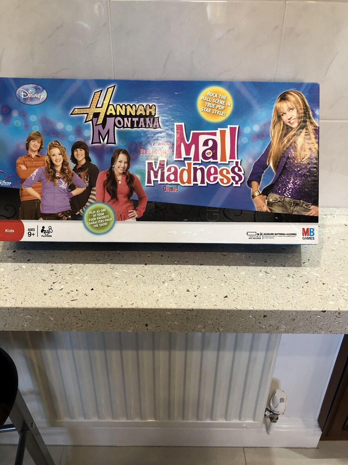 Hannah Montana Mall Madness Board Game -  MB Games (Rare) Hasbro