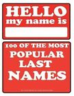 100 of the Most Popular Last Names by Alex Trost, Vadim Kravetsky (Paperback / softback, 2013)
