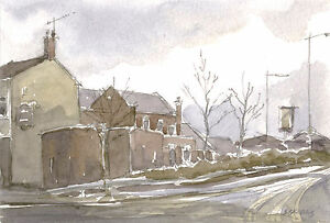 Barnsley-Town-ORIGINAL-WATERCOLOUR-PAINTING-Steve-Greaves-Yorkshire-Art-Pub-Bar