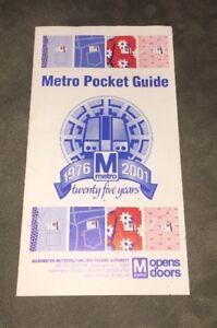 Washington Metro Subway Map.2000 Subway Map Of Washington Metro Wmata Ebay