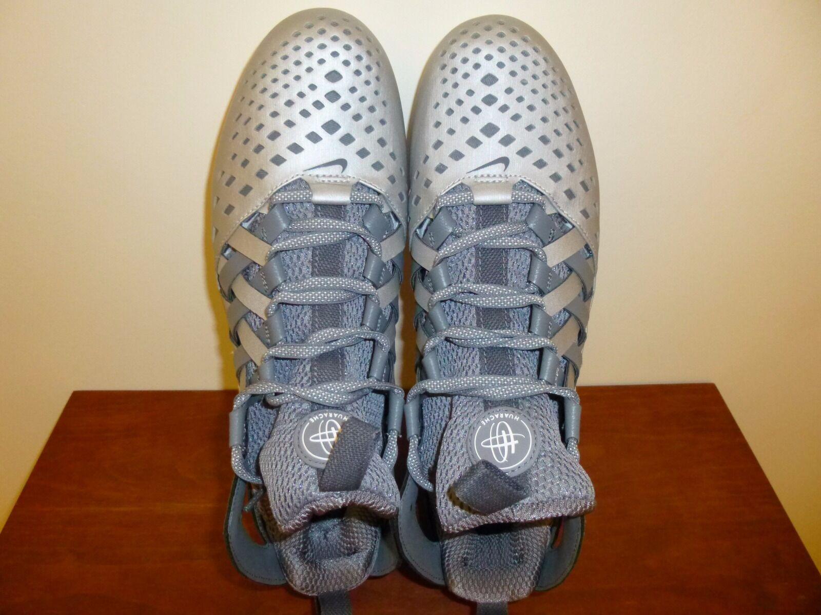 Gli uomini sono nike huarache v lacrosse galloccia 807142 010 grigio / argento 10