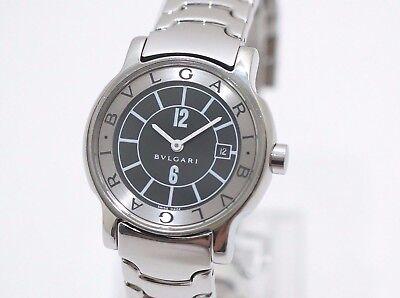 timeless design b9eb9 a0bfb Auth BVLGARI Solotempo Watch ST29S Quartz Black | eBay