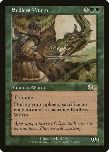 Endless Wurm Urza/'s Saga PLD Green Rare MAGIC THE GATHERING MTG CARD ABUGames