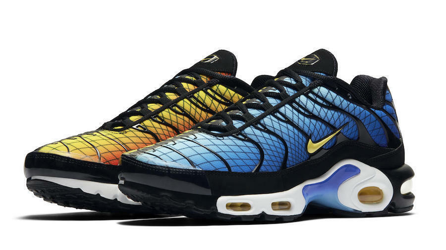 Nike Air Max Plus Greedy Hyper bluee Shark orange Multi AV7021-001 Men's 4-13 OG
