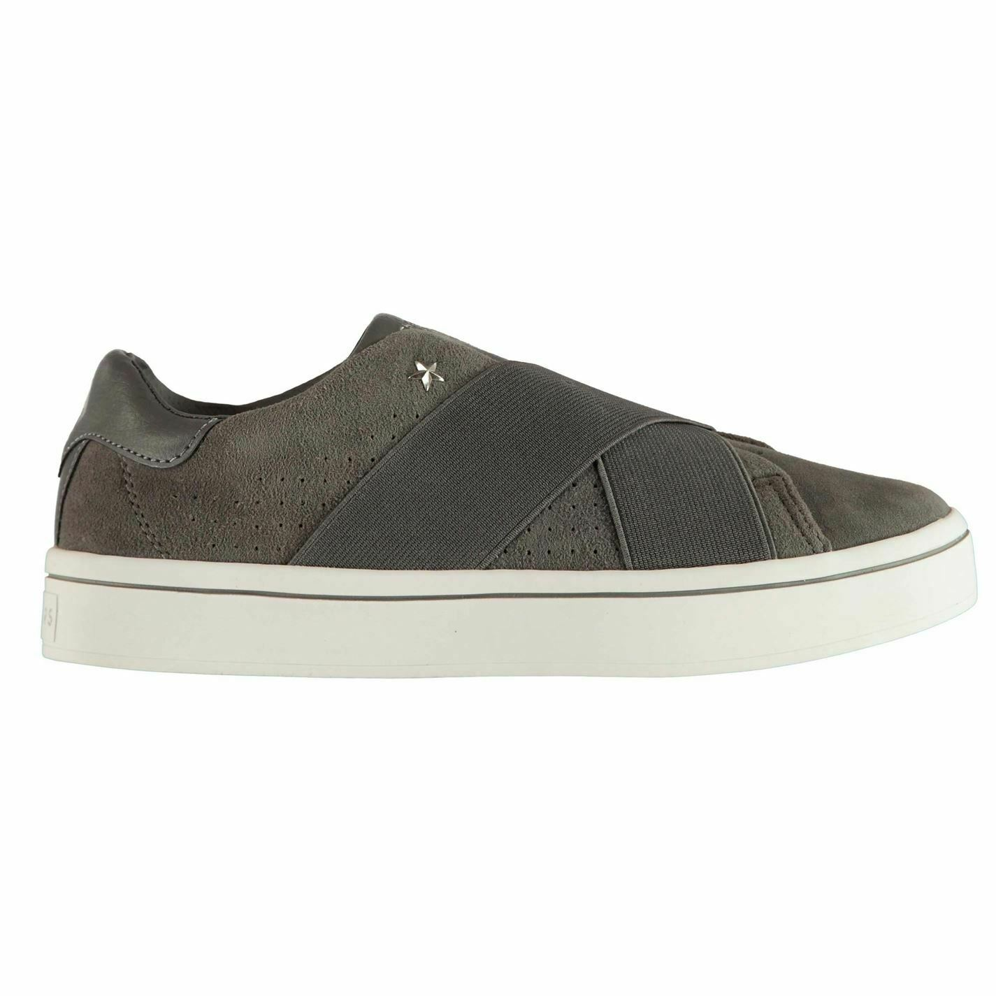 Skechers Womens Hi Street Trainers Suede Padded Ankle Collar Strap Leather Upper