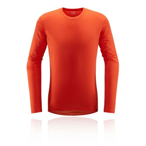 Haglofs Mens L.I.M Mid Roundneck Top Orange Sports Outdoors Breathable