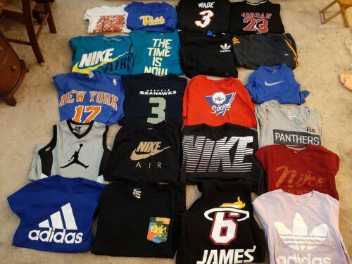 Nike Adidas Lot Of 37 T Shirts Sweatpants Shorts H