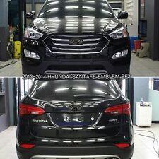 Matte Black Color H Logo F/R Emblems Set For 2013-2014 Hyundai SANTAFE