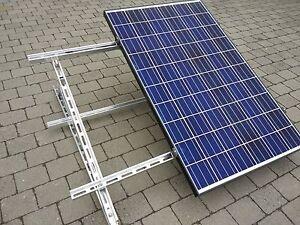 Erneuerbare Energie Pv Solarmodul Aufständerung System 15-30° Für Alle Modulgrößen Neu 1-6 Module Fashionable Patterns