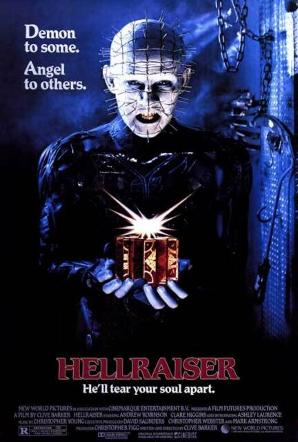 HELLRAISER Movie Poster Horror Pinhead Cenobite Clive Barker Fabric Poster TY667