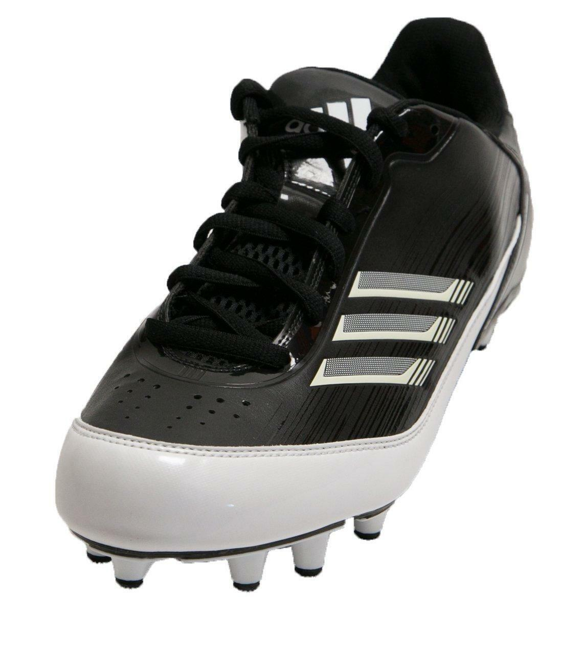 Adidas AS SMU Scorch X Fly Low NC Mens Football Cleats Black White Shoes